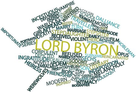 incest: Abstract word cloud for Lord Byron with related tags and terms Stock Photo