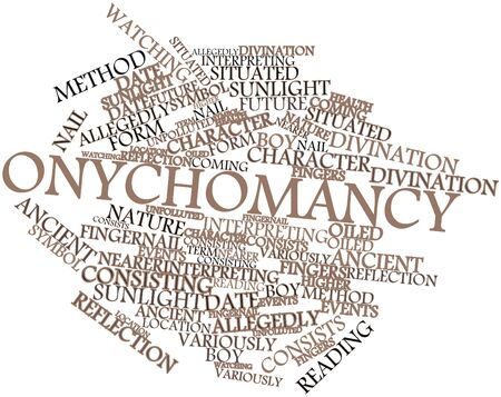 Abstract word cloud for Onychomancy with related tags and terms Stock Photo - 17397825