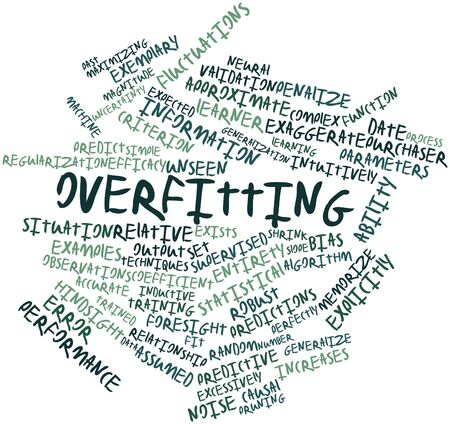 Abstract word cloud for Overfitting with related tags and terms Stock Photo - 17397828