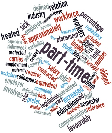 excluding: Abstract word cloud for Part-time with related tags and terms Stock Photo