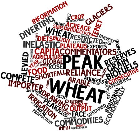 shortfall: Abstract word cloud for Peak wheat with related tags and terms