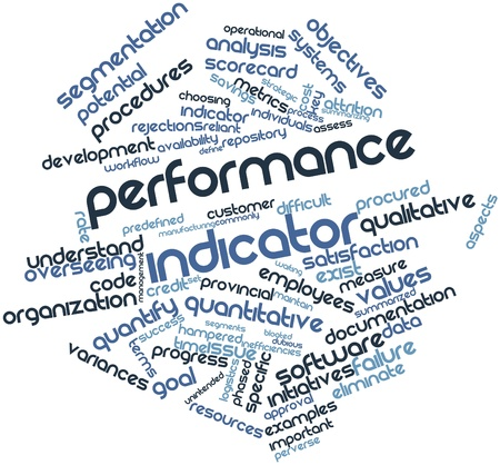 Abstract word cloud for Performance indicator with related tags and terms Stock Photo - 17397686