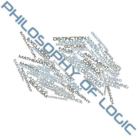 proved: Word cloud astratto per Filosofia della logica con tag correlati e termini Archivio Fotografico