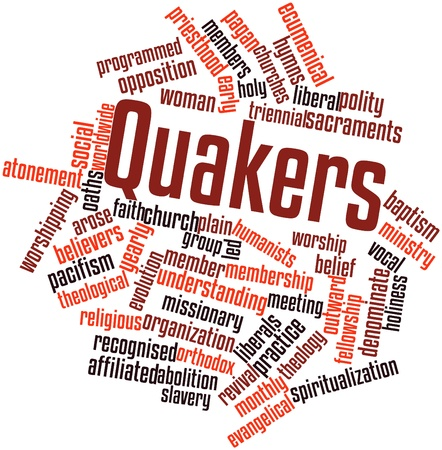 arose: Abstract word cloud for Quakers with related tags and terms