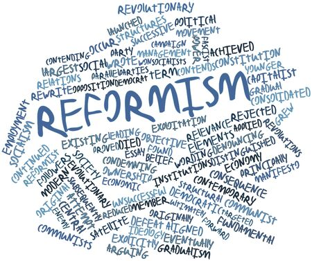launched: Abstract word cloud for Reformism with related tags and terms