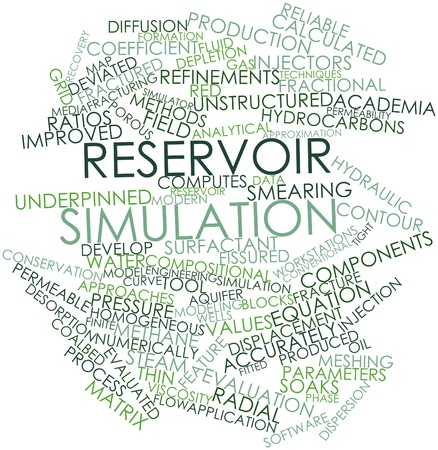 Abstract word cloud for Reservoir simulation with related tags and terms Stock Photo - 17398342