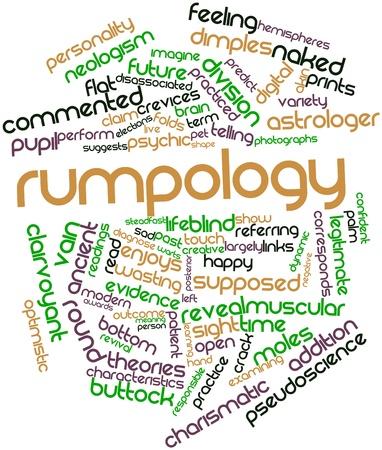 関連するタグと用語 Rumpology の抽象的な単語雲
