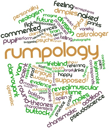 Abstract word cloud for Rumpology with related tags and terms Stock Photo - 17397819