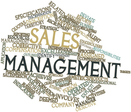 Abstract word cloud for Sales management with related tags and terms photo