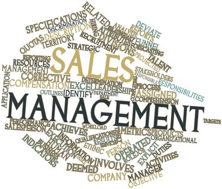 Abstraktes Wort cloud for Sales Management mit verwandte Tags und Begriffe