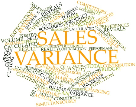 variance: Abstract word cloud for Sales variance with related tags and terms