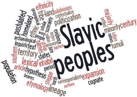 slavic: Abstract word cloud for Slavic peoples with related tags and terms
