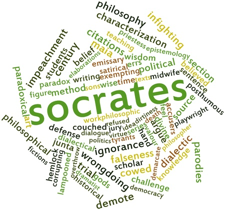 epistemology: Abstract word cloud for Socrates with related tags and terms