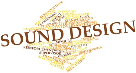 treatise: Abstract word cloud for Sound design with related tags and terms
