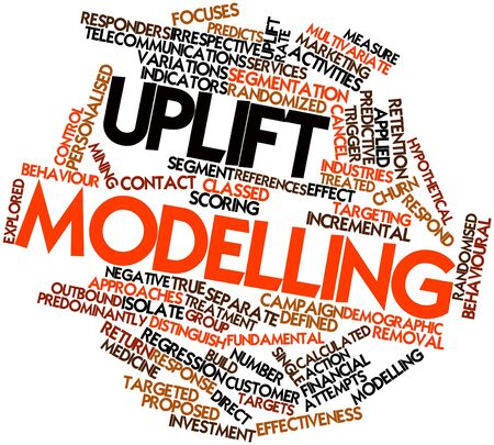 incremental: Abstract word cloud for Uplift modelling with related tags and terms