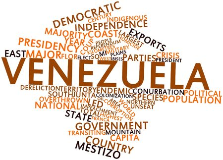 urbanized: Abstract word cloud for Venezuela with related tags and terms