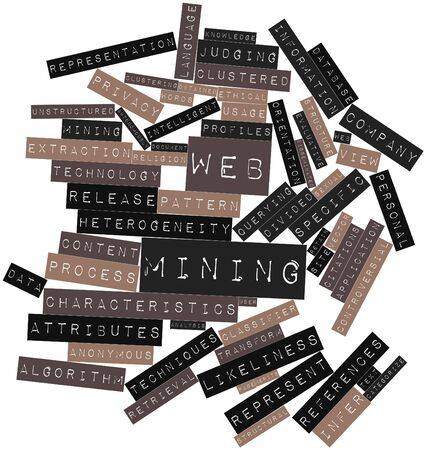obtained: Abstract word cloud for Web mining with related tags and terms