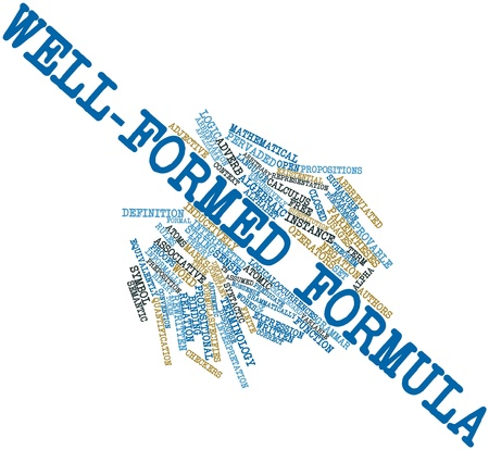 Abstract word cloud for Well-formed formula with related tags and terms