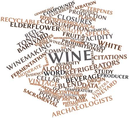 sacramentale: Word cloud astratto per il vino con tag correlati e termini Archivio Fotografico