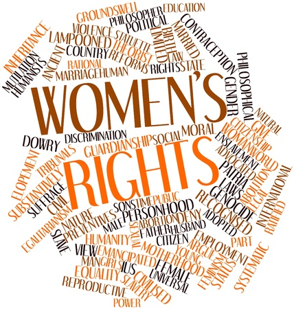 Abstract word cloud for Womens rights with related tags and terms photo