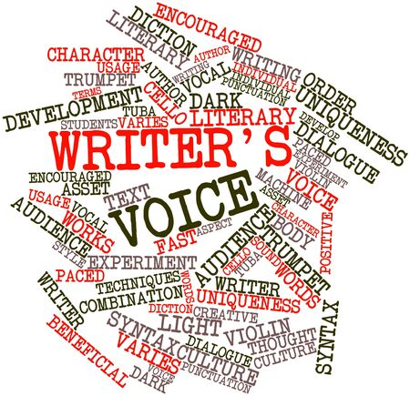 beneficial: Abstract word cloud for Writers voice with related tags and terms