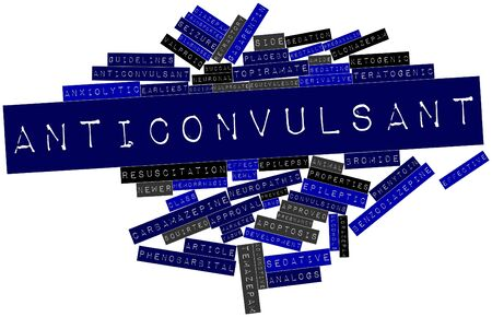 stabilizers: Nube palabra abstracta para anticonvulsivante con las etiquetas y t�rminos relacionados Foto de archivo