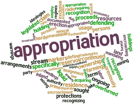 unavailability: Abstract word cloud for Appropriation with related tags and terms Stock Photo