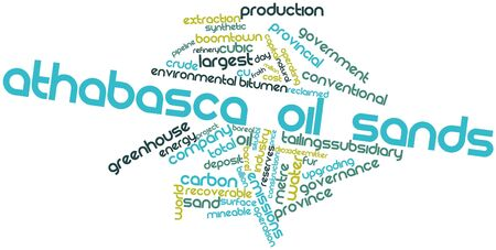 Abstract word cloud for Athabasca oil sands with related tags and terms Stock Photo - 17397536