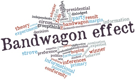 precedence: Abstract word cloud for Bandwagon effect with related tags and terms