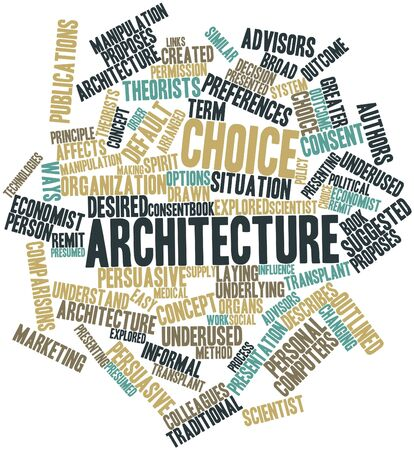 remit: Abstract word cloud for Choice architecture with related tags and terms