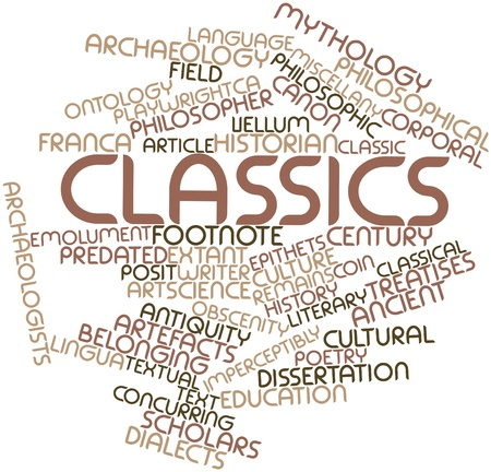 Abstract word cloud for Classics with related tags and terms Stock Photo - 17397689