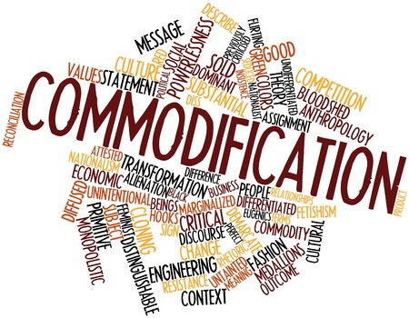 Abstract word cloud for Commodification with related tags and terms Stock Photo - 17398117