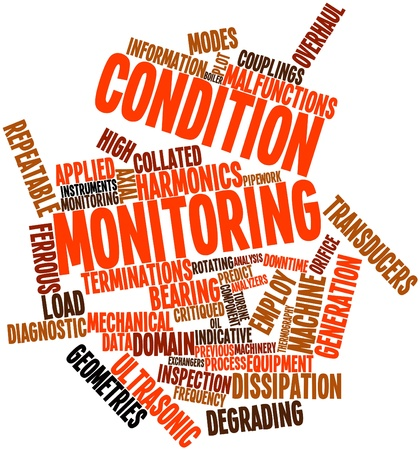 Abstract word cloud for Condition monitoring with related tags and terms Stock Photo - 17398120