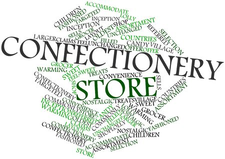 accommodate: Abstract word cloud for Confectionery store with related tags and terms