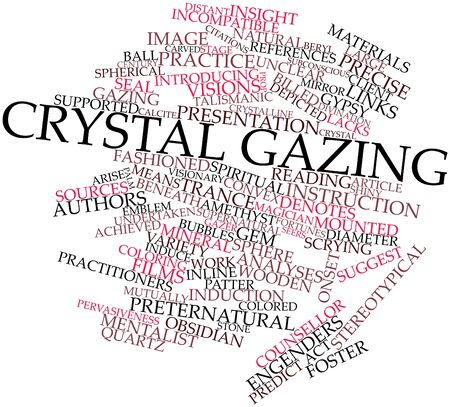lacks: Abstract word cloud for Crystal gazing with related tags and terms Stock Photo
