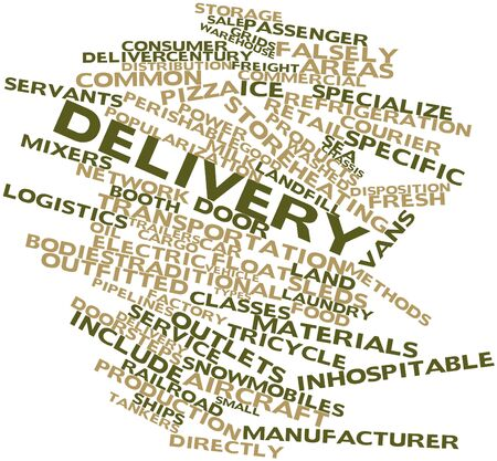 courier service: Abstract word cloud for Delivery with related tags and terms