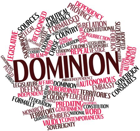 Abstract word cloud for Dominion with related tags and terms Stock Photo - 17398874