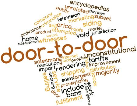 Abstract word cloud for Door-to-door with related tags and terms Stock Photo - 17397598