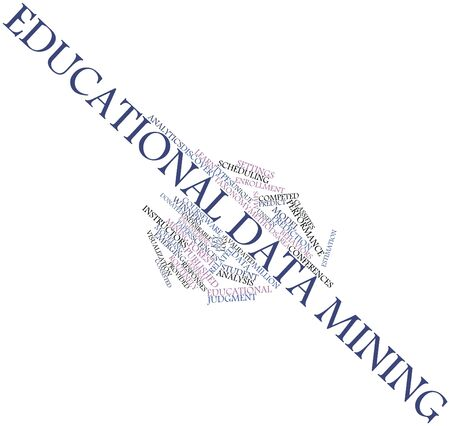 Abstract word cloud for Educational data mining with related tags and terms Stock Photo - 17397554