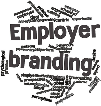 Abstract word cloud for Employer branding with related tags and terms