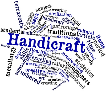 murals: Abstract word cloud for Handicraft with related tags and terms