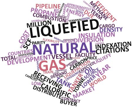 Abstract word cloud for Liquefied natural gas with related tags and terms Stock Photo - 17397650