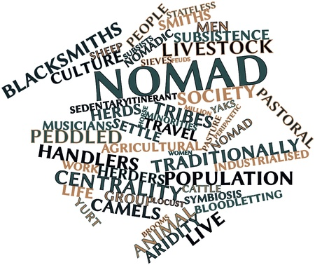 Abstract word cloud for Nomad with related tags and terms Stock Photo - 17397673