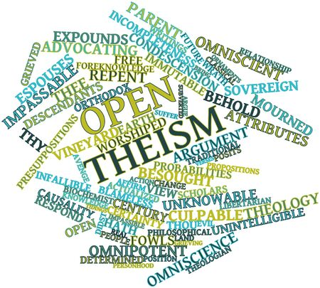 tidings: Abstract word cloud for Open theism with related tags and terms