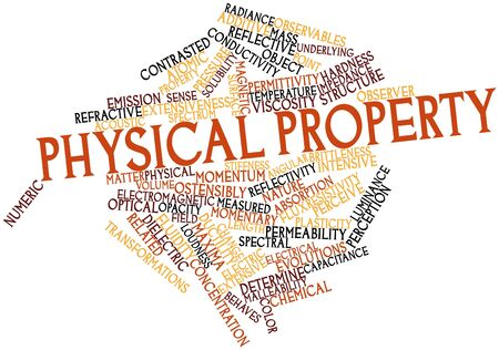 Abstract word cloud for Physical property with related tags and terms