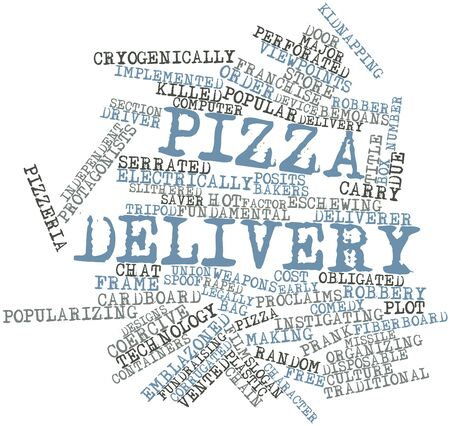 Abstract word cloud for Pizza delivery with related tags and terms Stock Photo - 17398254