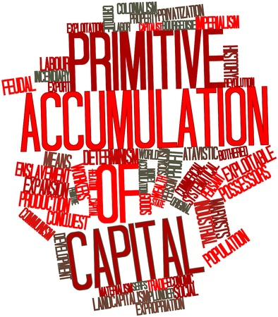 imperialism: Abstract word cloud for Primitive accumulation of capital with related tags and terms