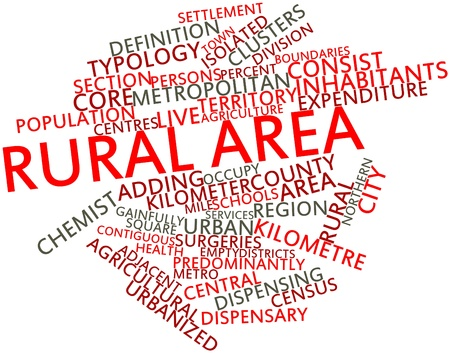 kilometre: Abstract word cloud for Rural area with related tags and terms