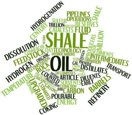 viability: Abstract word cloud for Shale oil with related tags and terms Stock Photo