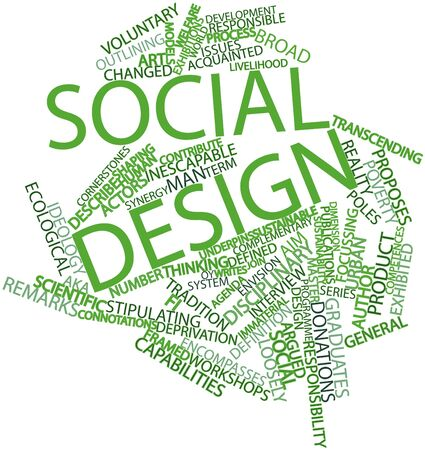 immaterial: Abstract word cloud for Social design with related tags and terms
